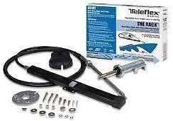 "Teleflex SS14108 8/' SINGLE BACK MOUNT RACK BOAT STEERING SYSTEM WITH 13/"" WHEEL"