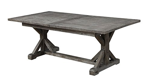 Janes Gallerie Paladin Table - Charcoal Gray Finish Solid Pine wood Table Dimensions: 84-112L x 42W x 30H - kitchen-dining-room-furniture, kitchen-dining-room, kitchen-dining-room-tables - 315gXnaueiL -