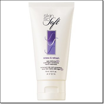 Avon Skin so Soft Renew & Refresh Age-defying Overnight Corrective Hand Treatment - Avon Skin So Soft Hand Cream