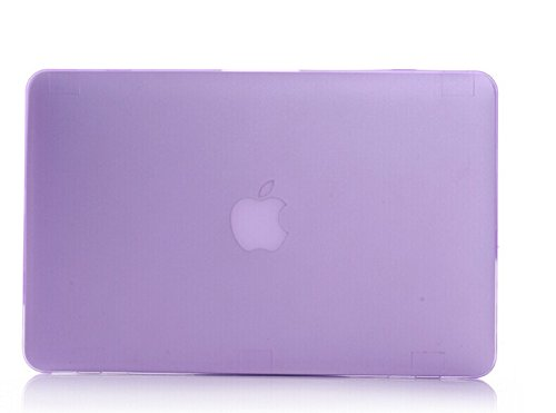 "Macbook Air 13"" Case, Iwotou Purple Frost Matte Surface Hard Shell Case Cover With Silicone Skin Protective Keyboard Film Cover For Macbook Air 13"" 13.3"" A1369 & A1466 (Purple)"
