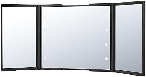 Plemo Plegable Espejo Cosmético con Luz LED Aumento 2X para Afeitar y Maquillaje: Amazon.es: Hogar