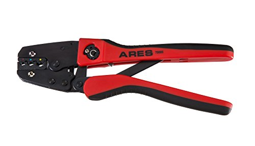 ARES 70005 | Professional Ratcheting Wire Terminal Crimper Tool | Perfect Crimp Every Time for 10-22 Gauge Insulated and Weather-Proof Terminals