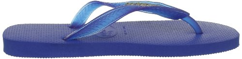Havaianas Top Logo Metallic Silver Chanclas, mujer azul - Bleu (Carbon Blue)