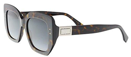 Fendi Womens Women's Ff 0267/S 51Mm Sunglasses (Square Sonnenbrille)