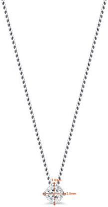 Orovi Women Diamond Necklace 18 K / 750 White Gold Chain/Solitaire Diamond Pendant With Diamonds 0.07 Ct Brilliant Cut, Length 45 cm
