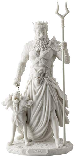 Hades Greek God of the Underworld with Cerebrus Statue