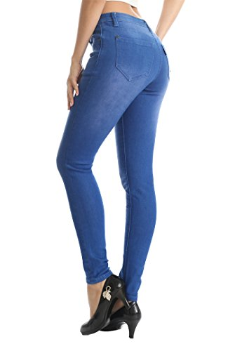 ZADDIC Skinny Jeans Women's Casual Butt Lift Stretch Jeans Leggings (14, Blue)