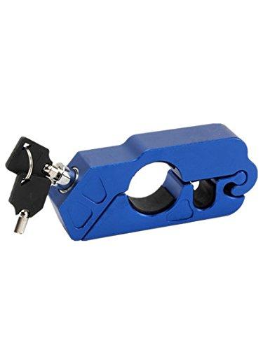 lisyline CNCオートバイハンドルバーグリップブレーキレバーロックAnit盗難セキュリティcaps-lock ブルー Lisy-M4-Blue B071G7Q8HM ブルー ブルー