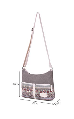 Daily Floral Female Bags Shoulder Crossbody Women's Bag Ladies Travel Canvas Retro Messenger Brown Style Xp0qCw