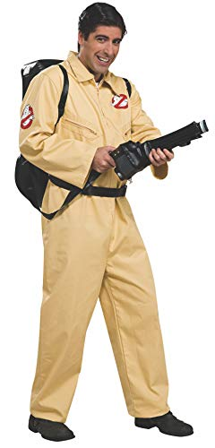 Ghostbusters Deluxe Jumpsuit, Beige, One Size -