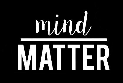 CCI Mind Over Matter Motivational Decal Vinyl Sticker|Cars Trucks Vans Walls Laptop| White |4.5 x 3 in|CCI1519 best motivational laptop stickers