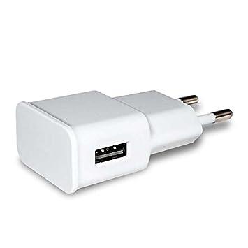 Ociodual Cargador USB Red Plano 2A AC para Smartphone Tablets Movil Casa Viaje Adaptador