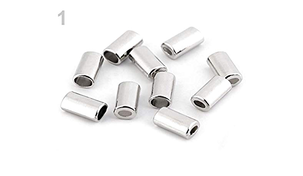 1651 Enc14 ends cap ribbon end 10 pcs 15x12,2mm 14mm inner raw brass cord  tip ends