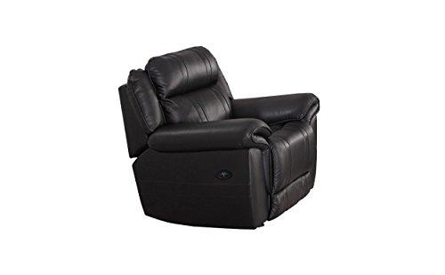 Milton Greens Stars Arcadia Top Grain Leather Powered Recliner, black