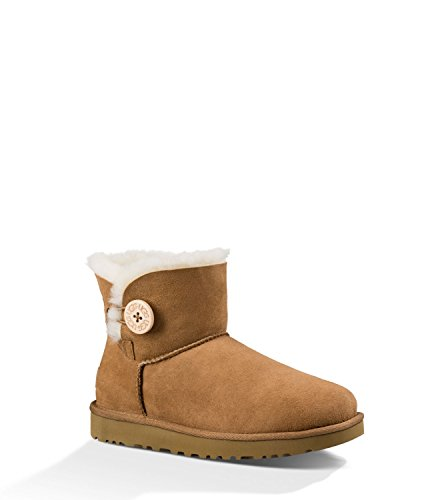 - UGG Women's Mini Bailey Button II Winter Boot, Chestnut, 7 B US