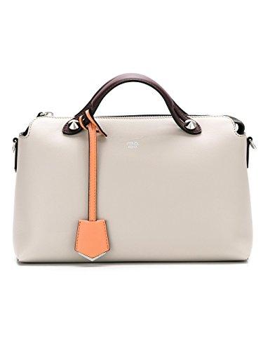 Fendi Women's 8BL1245QJF09PP Beige Leather Handbag