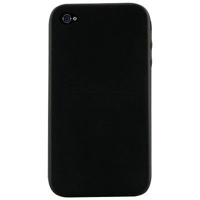 Silicone Skin Case for iPhone 4 / 4S - Black