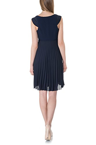 blue Umstandskleid navy Eventkleid bellybutton Arm Kleid ohne Damen f4xWUYq
