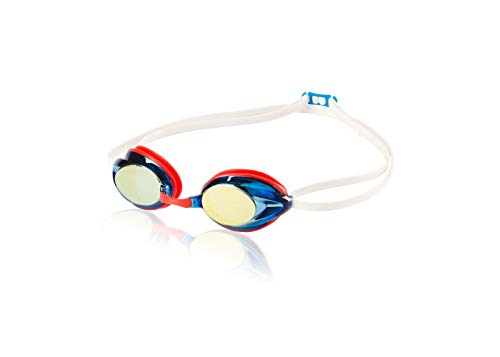 Speedo Adult Record Breaker Goggle - Blue/Red