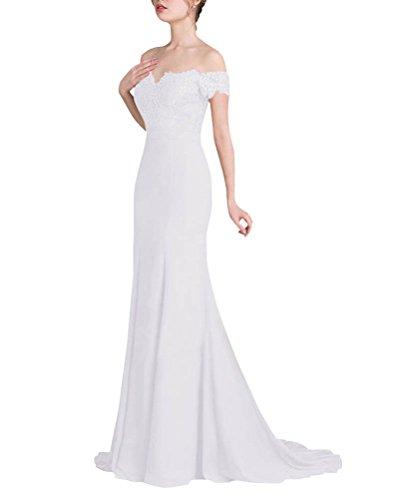 Spalline Abito Donna Colore Vestito Sottile Sposa Bianco Elegante Solido Senza Lungo PEqq46