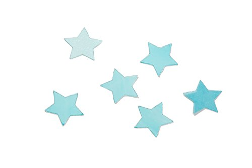 Silvery Star - Edible By Design Large 7mm & 10mm Stars Sprinkles, Blue & Silvery White