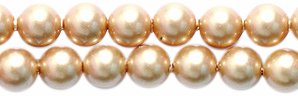 Swarovski 5810 Crystal Round Pearl Beads, 4mm, Vintage Gold, 50-Pack