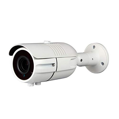 Eversecu 4MP Security Camera, 4 megapixl AHD/TVI/CVI/Analog 4 in 1 CCTV Camera Outdoor/Indoor Night Vision 130ft(40m) IR Distance 2.8-12mm Vari-Focal Lens, OSD Menu UTC, Metal IP66 Weatherproof ... 12mm Lens Bullet Housing