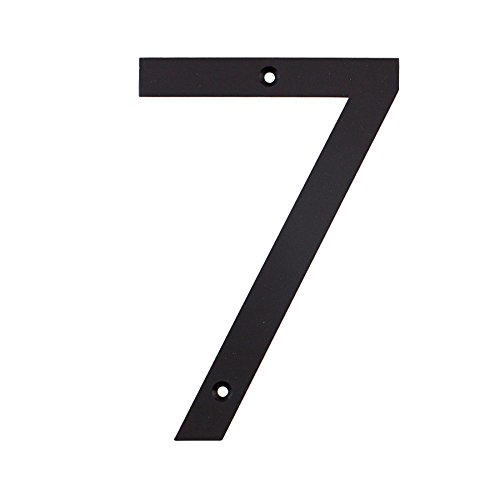 MAYKKE Hugo Stainless Steel House Number 7 Two Finishes to Choose from Decorative & Functional Curb Appeal Matte Black OYA1100701 ()