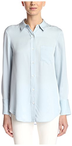 Theory Women's Nijee Camicia Shirt Buttondown, Classic Blue, L