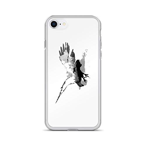 iPhone 7/8 Case Anti-Scratch Creature Animal Transparent Cases Cover Feel The Wild Life of Nature Animals Fauna Crystal Clear