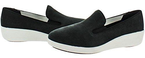 Fitflop Donna F Pop Skate Pony Fashion Sneaker Tutto Nero