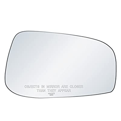 exactafit 8117R Replacement Convex Side Mirror Glass Lens fits Passenger's Right Hand RH for 2004-2006 Volvo S60 S80 V70 by Rugged TUFF