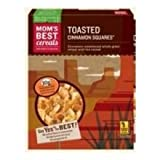 Moms Naturals Toasted Cinnamon Squares, 32 Ounce -- 6 per case.