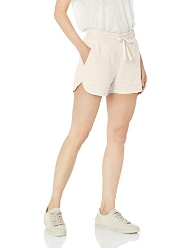 Amazon Essentials Women's French Terry Fleece Short Shorts, -oatmeal heather, Small