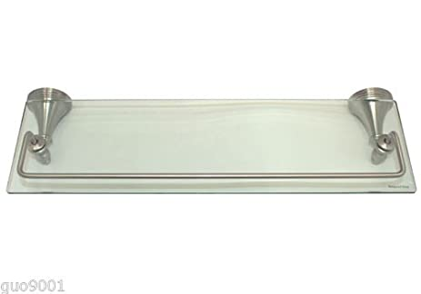 Amazoncom Brushed Nickel Bathroom Bath Accessories 18 X 6 Glass