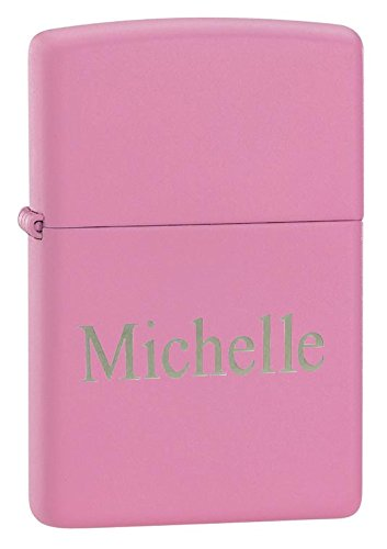 (Personalized Zippo Pink Matte Lighter with Free Engraving)