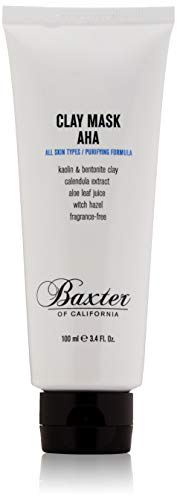 Baxter of California Purifying Clay Mask AHA with Kaolin & Bentonite Clay, Fragrance-Free, Spot Treatment All Skin Types, 3.4 Fl. Oz.