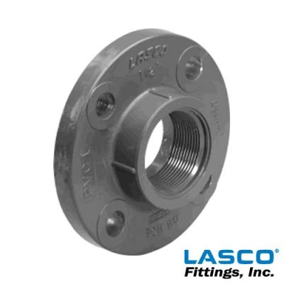 Companion Flange 1 Each 2 Schedule 80 Gray PVC Threaded 150 lb