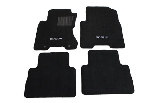 Genuine Nissan Accessories - Nissan Genuine Accessories 999E2-GX000 Black Carpeted Floor Mat, (Set of 4)