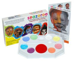 PASTEL PALLET Snazaroo Face Painting Pallet Water-Based, Easy-On & Easy-Off and Non-Toxic ()