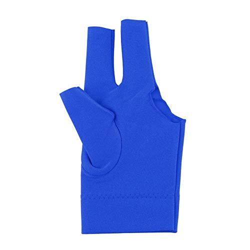 Jullyelegant Deportes Profesionales C/ómodo Spandex Snooker Billar Cue Glove Pool Mano Izquierda Abierta Accesorio de Tres Dedos Azul