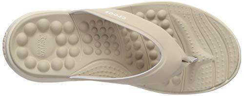 Beige Flip stucco Women Crocs cobblestone Para Reviva Chanclas 2zc Mujer EqYYw5Px