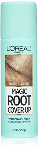 Hair Spray Blonde (L'Oreal Paris Magic Root Cover Up Gray Concealer Spray, Dark Blonde, 2 oz.(Packaging May)