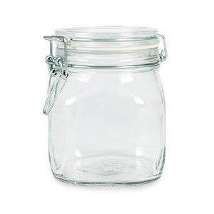 amazon com 6 pack bormioli rocco fido glass canning latch lid jar