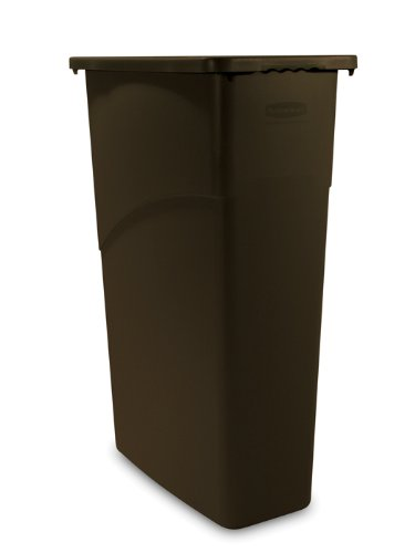 Rubbermaid Commercial FG354000BRN LLDPE Slim Jim 23-Gallon Trash Can, Brown RMC2894