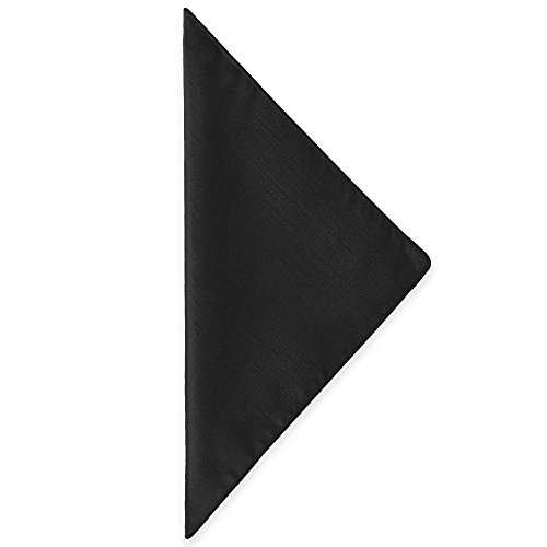 Ultimate Textile (100 Dozen) Reversible Shantung Satin - Majestic 10 x 10-Inch Cloth Cocktail Napkins - for Weddings, Home Parties and Special Event use, Black by Ultimate Textile