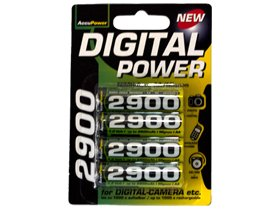 4 X Aa 2900 Mah Accupower Nimh Rechargeable Batteries