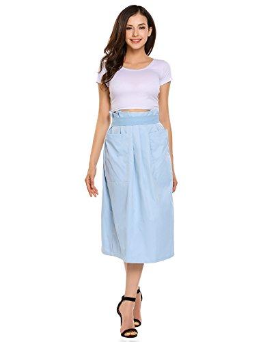 (Girls Fold-Over Flare Knee Length Skirt Cover up, Peacock Blue, Medium)