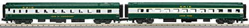 MTH 1:48 O Scale 2 Car 70' Slpr/Diner Passenger Set Erie Smooth #20-6660 ()