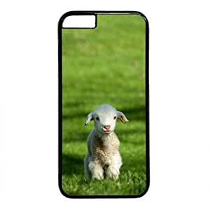 "iCustomonline Adorable Baby Goat Case for iPhone 6 Plus(5.5"") PC Material Black-Fits iPhone 6 Plus(5.5"") T-Mobile,AT&T,Sprint,Verizon and International"